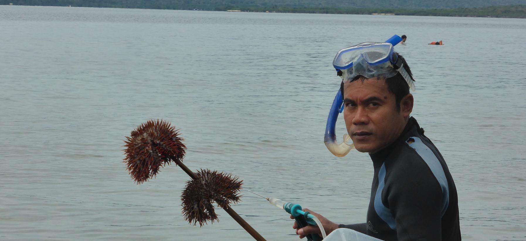 Menjangan Milieu-educatie 5 Nono jaagt over Starfish